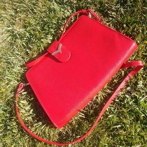 NWOT Borelli Genuine Leather Red Purse 👛